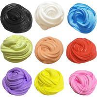 Fluffy slime i nya färger / mjuk och stretchy - stor pack