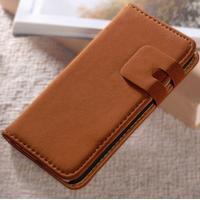 Tunn plånboksväska i mocca till iphone 7, brun
