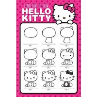 Posters Hello Kitty - How To Draw - Posters