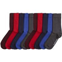Björn Borg - 10-pack Basic Solid Socks Grey/Red