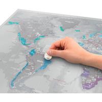 Luckies Skrabekort Verdenskort Scratch Map Platinum