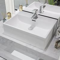 vidaXL Basin with Faucet Hole
