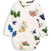 Mini Rodini Butterflies Long Sleeve Body - Offwhite (1774011411)