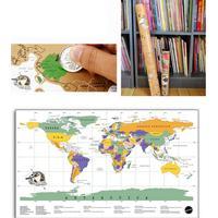 Stor scratch map världskarta - vit