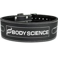 Lyftarbälte – Body Science Leather Belt, Stl. XS - Träningsbälte, Träningstillbehör