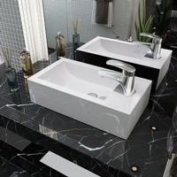 vidaXL Sink with Rectangular Ceramic