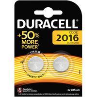 DURACELL Knappcellsbatteri 2-pk CR2016