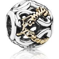 Pandora Family Forever Openwork Sterling Silver/Gold Charm w. Cubic Zirconia (791525CZ)