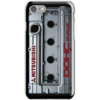 4g63 MITSUBISHI Valve Cover -IPHONE -SILVER/RED iPhone 7 Cases