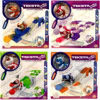 Splash Toys 392-0650 Teksta Babies Spielset mit Spielbahn/Laufrad -Puppy, Dino, Kitty u. Raccoon zur Auswahl