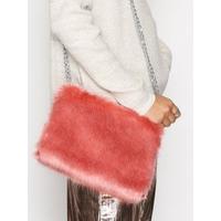 NLY Accessories Faux Fur Chain Bag Axelremsväskor Rosa