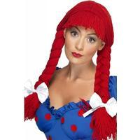 Smiffys Rag Doll Wig Red