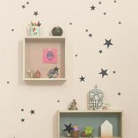 Wallstickers - stjerner sort