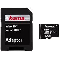 Minneskort HAMA MicroSDHC 32GB + adapter Class 10