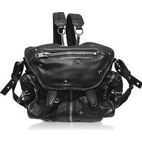 Alexander Wang Marti Black Nappa Leather w/Rose Studded