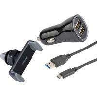 Cirafon Car Kit USB-C 1m Sort (5011058957)