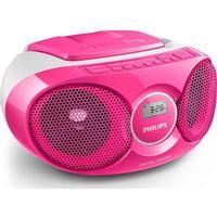 Philips butikken Musikanlæg m. Radio og CD - AZ215C, Pink - Philips
