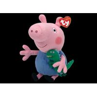 Peppa Pig TY Beanie Buddy GURLI GRIS plysfigur 15,5 cm Gustav