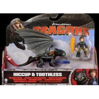 Dragons DRAKTRÄNAREN drake med ryttare, Hicke med eldsvärd & Tandlöse