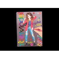 Top Model TOPModel design målarbok
