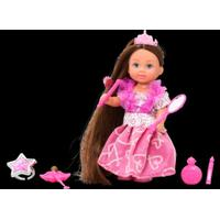 Steffi Evi Rapunzel, brunette i lyserød kjole