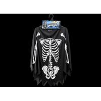 Skeleton Poncho Adults