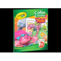 Trolls CRAYOLA Color & Sticker TROLLS