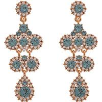 Lily and Rose Miss Kate Tin Earrings w. Swarovski Crystals - 6.2cm