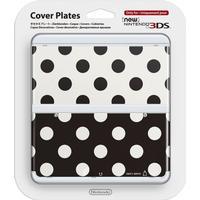 Nintendo Cover Plate 15 - Black and White Spot Design (New Nintendo 3DS)