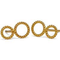 Pernille Corydon Two Twisted Open Coin Earrings