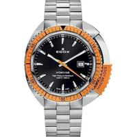 Hydro-Sub sølv farvet stål med stål orange dreje krans Herre ur fra Edox, 53200-3OM-NIN