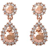Lily and Rose Sofia Tin Earrings w. Swarovski Crystals - 3.5cm