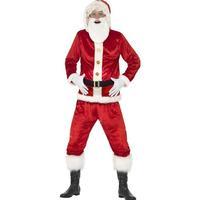 Smiffys Jolly Santa Costume with Hooded Jacket