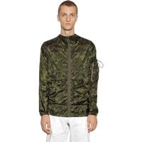 MONCLER TRIEUX CAMO PRINT HOODED NYLON JACKET