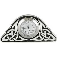 Woodford Quartz Celtic Clock - Silver