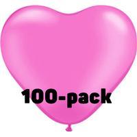 Ballongkungen AB Hjärtballonger Rosa - 100-pack