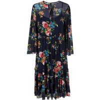 Y.A.S Floral Mesh Dress Blue/Night Sky (26010535)
