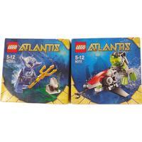 2 askar med lego atlantis modell 8072 & 8073