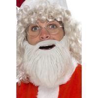 Smiffys Santa Beard Faux Fur Pearl