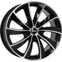 Rial Lugano Black Polished 8x18 5/112 ET35 HB66.5
