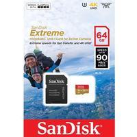 SANDISK Extreme microSDXC 64GB + SD Ad