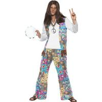 Smiffys Groovy Hippie Maskeraddräkt