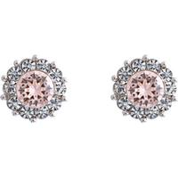 Lily and Rose Miss Sofia Tin Earrings w. Silk/Swarovski Crystals - 1.1cm