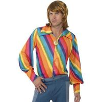 Smiffys 1970's Rainbow Colour Shirt