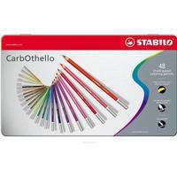 Stabilo -CarbOthello Farveblyanter - Metalæske med 48 farver