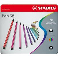 Stabilo - Pen 68 - Metalæske med 20 Tusser