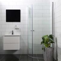 Bathlife Mångsidig Rund Duschdörr 1000mm