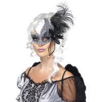 Smiffys Masquerade Dark Angel Eyemask