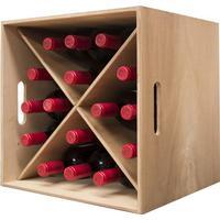 Vinkasse i fyrretræ - 16 flasker