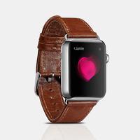Apple Watch ICARER Classic 42mm Series 3,2,1 - Äkta läder armband - Brun